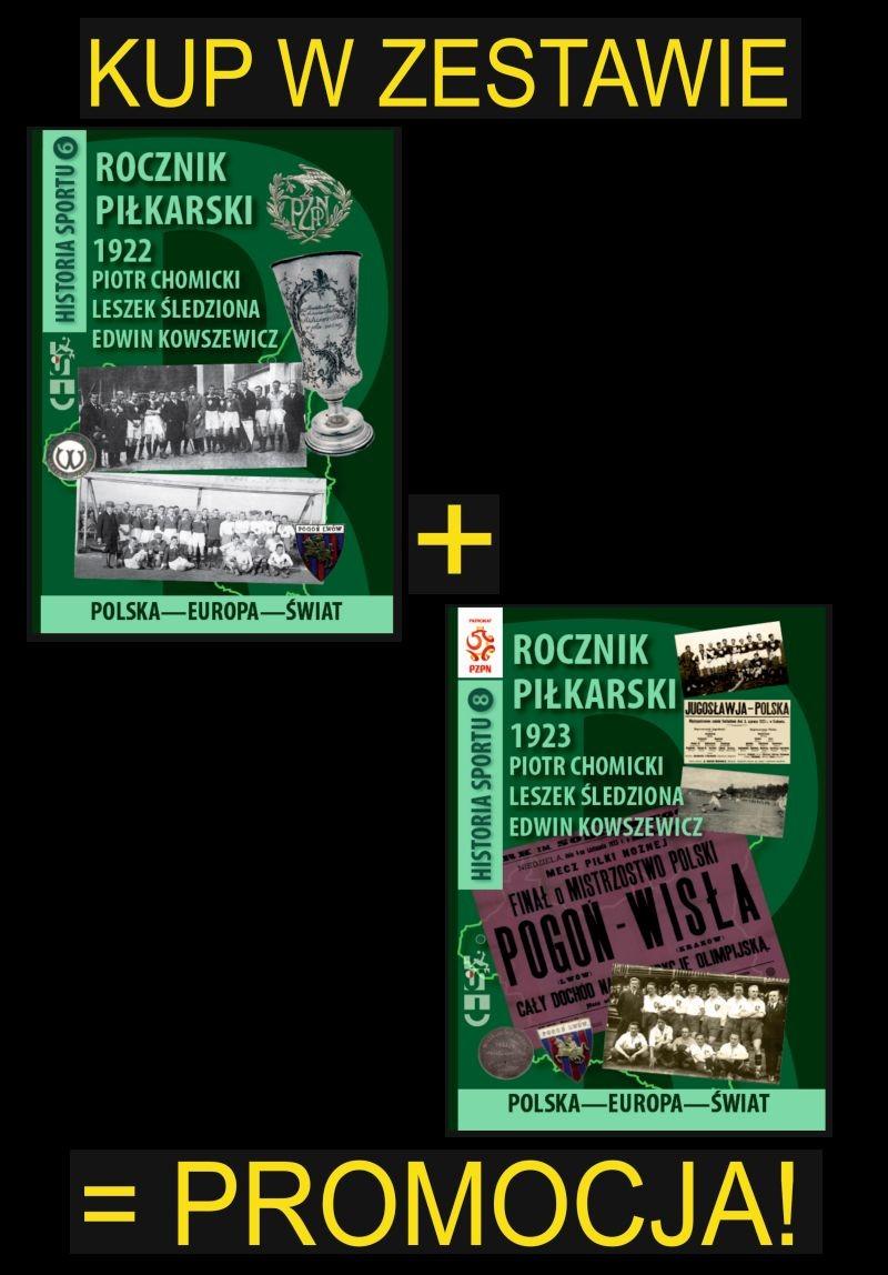 oferta -Zestaw dwóch Roczników Piłkarskich Polska-Europa-Świat 1922 i 1923